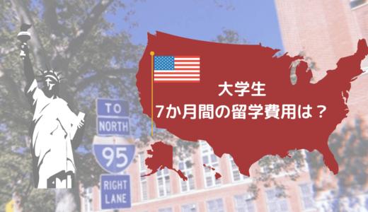 【大学生・7か月間のアメリカ留学】かかった留学費用は、約387万円でした