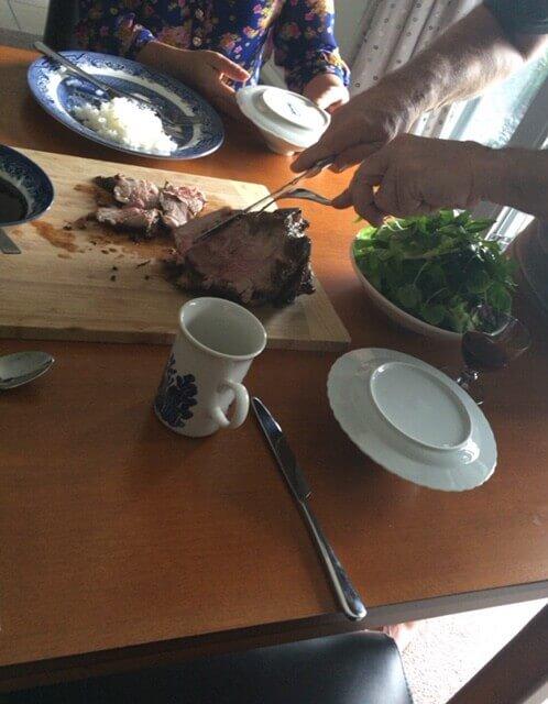 NZホームステイ先のある日の夕ご飯